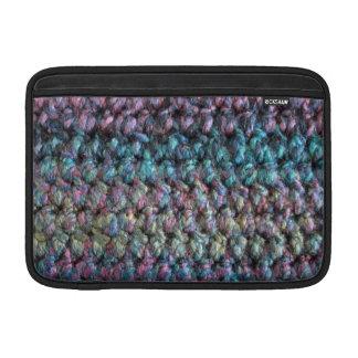 Lanas hechas punto crocheted rayadas funda macbook air