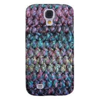 Lanas hechas punto crocheted rayadas funda para galaxy s4