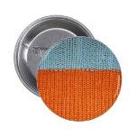Lanas hechas punto del naranja y del trullo