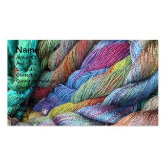 lanas teñidas mano multicolora para la venta plantilla de tarjeta de visita