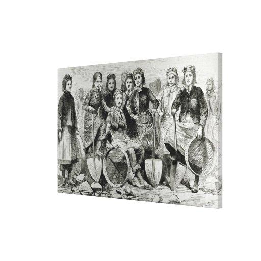 Lancashire Pit-Brow Women Canvas Prints