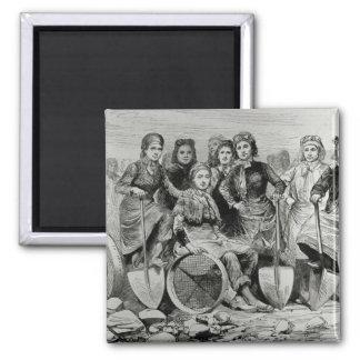 Lancashire Pit-Brow Women Magnet