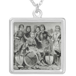 Lancashire Pit-Brow Women Silver Plated Necklace