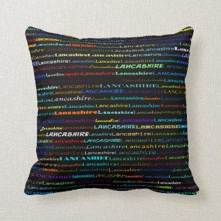Lancashire Text Design I Throw Pillow