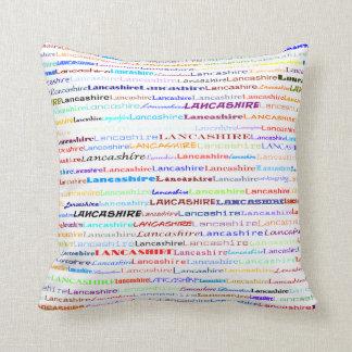 Lancashire Text Design II Throw Pillow
