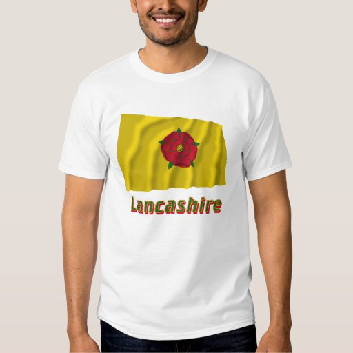 Lancashire Waving Flag with Name T-Shirt
