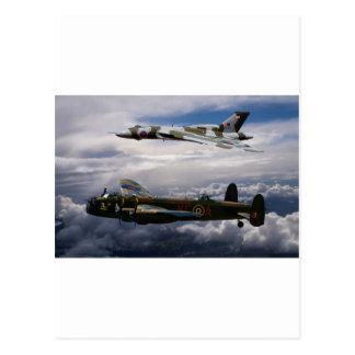 Lancaster and Vulcan XH558 Postcard