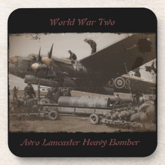 Lancaster Being Loaded with Bombs Drink Coaster