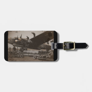 Lancaster Being Loaded with Bombs Luggage Tag