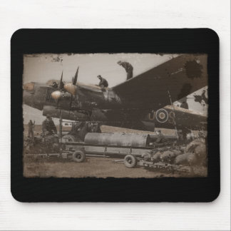 Lancaster Being Loaded with Bombs Mouse Pad