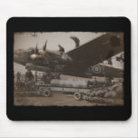Lancaster Being Loaded with Bombs Mousepad