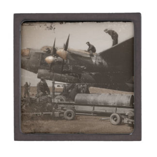 Lancaster Being Loaded with Bombs Premium Gift Boxes