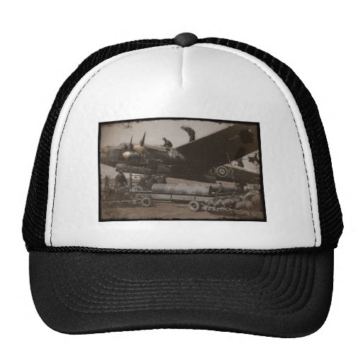 Lancaster Being Loaded with Bombs Trucker Hat