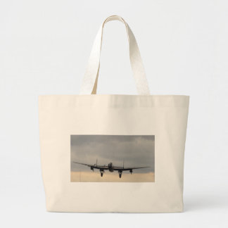 Lancaster Bomber From Behind Tote Bags