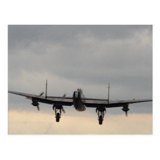 Lancaster Bomber From Behind Postcard