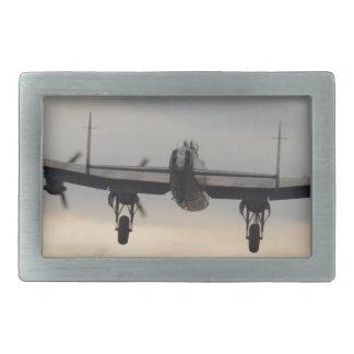 Lancaster Bomber From Behind Rectangular Belt Buckle