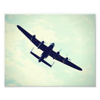 Lancaster Bomber In Flight. Photo
