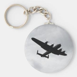 Lancaster Bomber Landing Basic Round Button Keychain