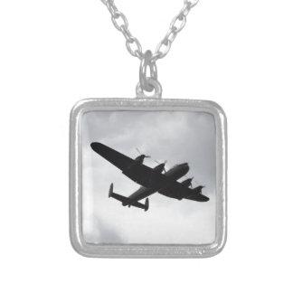 Lancaster Bomber Landing Square Pendant Necklace