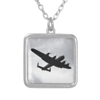 Lancaster Bomber Landing Silver Plated Necklace