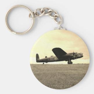 Lancaster Bomber Sepia Tone Basic Round Button Keychain