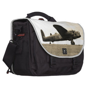 Lancaster Bomber Sepia Tone Bags For Laptop