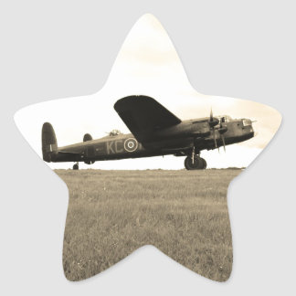 Lancaster Bomber Sepia Tone Star Stickers
