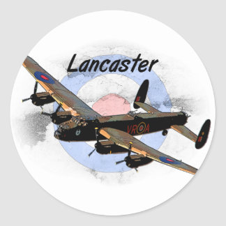 Lancaster Bomber Classic Round Sticker