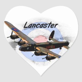 Lancaster Bomber Heart Sticker