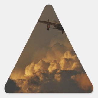 Lancaster bomber STORM Triangle Sticker