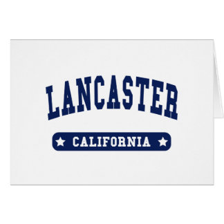 Lancaster California College Style tee shirts Greeting Cards