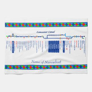 Lancaster Canal UK Inland Waterways Route Blue Kitchen Towel