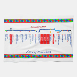 Lancaster Canal UK Inland Waterways Route Red Hand Towel
