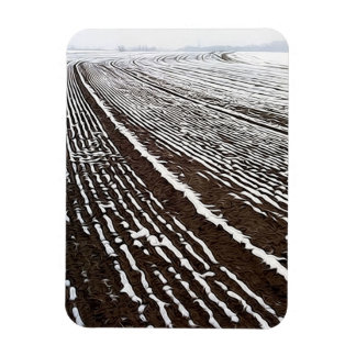 Lancaster County field after snowfall. Magnet