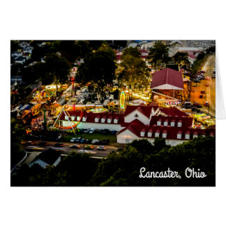 Lancaster Fairgrounds Night Lights Greeting Card