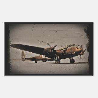 Lancaster Heavy Bomber Rectangle Sticker