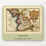 """""""Lancaster"""" Lancashire County Map Mouse Pad"""