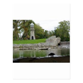 Lancaster Lighthouse NY Postcard