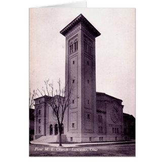Lancaster Ohio First Methodist Church Greeting Card