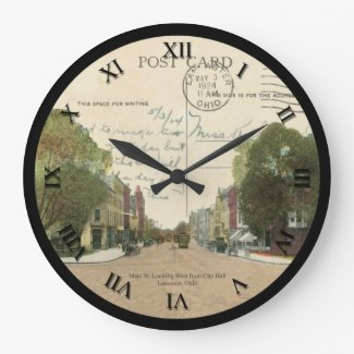 Lancaster Ohio Post Card Clock 1924