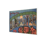 Lancaster, Pennsylvania - Large Letter Scenes Gallery Wrapped Canvas