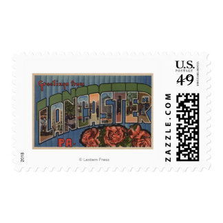 Lancaster, Pennsylvania - Large Letter Scenes Postage