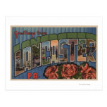 Lancaster, Pennsylvania - Large Letter Scenes Postcard