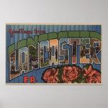 Lancaster, Pennsylvania - Large Letter Scenes Print