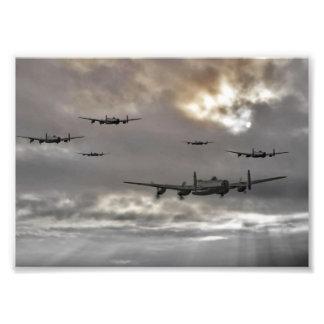 Lancaster Raid Photo Art