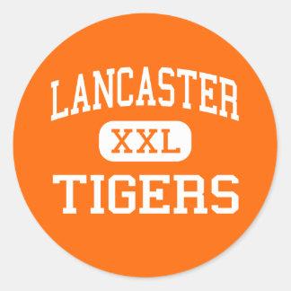 Lancaster - Tigers - High School - Lancaster Texas Classic Round Sticker