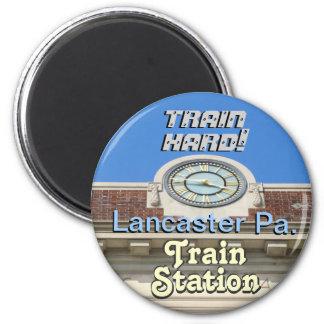 Lancaster Train Station! Train Hard Keychain! Fridge Magnets