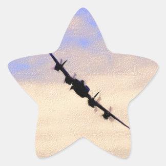 Lancaster World War 2 British Bomber Star Sticker