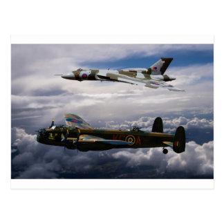 Lancaster y Vulcan XH558
