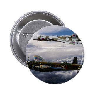 Lancaster y Vulcan XH558 Pin Redondo De 2 Pulgadas